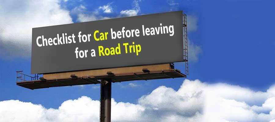 Car Checklist Before Road Trip